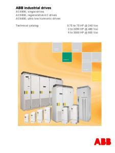 ABB industrial drives ACS800, single drives ACS800, regenerative AC drives ACS800, ultra low harmonic drives