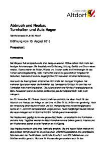 Abbruch und Neubau Turnhallen und Aula Hagen