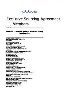 ABBVIE Exclusive Sourcing Agreement Members