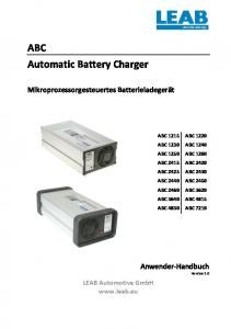 ABC Automatic Battery Charger