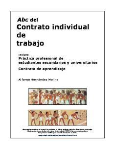 Abc del Contrato individual de trabajo