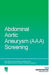 Abdominal Aortic Aneurysm (AAA) Screening