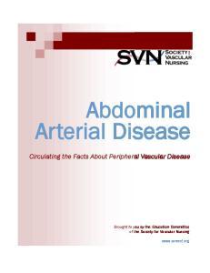 Abdominal Arterial Disease