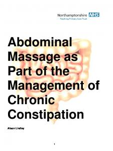 Abdominal Massage as Part of the Management of Chronic Constipation