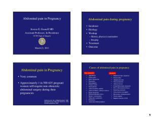 Abdominal pain in Pregnancy