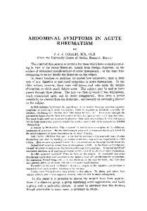 ABDOMINAL SYMPTOMS IN ACUTE RHEUMATISM
