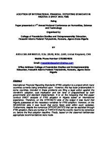 ABDULSALAM MAS UD, B.Sc. (BUK), M.Sc. (UAD, United Kingdom), CNA