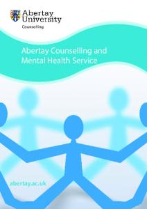 Abertay Counselling and Mental Health Service