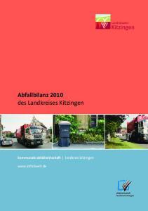 Abfallbilanz 2010 des Landkreises Kitzingen