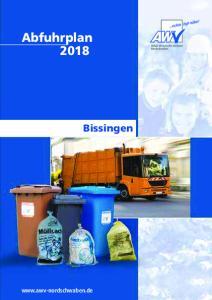 Abfuhrplan Bissingen