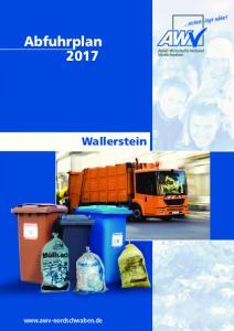 Abfuhrplan Wallerstein