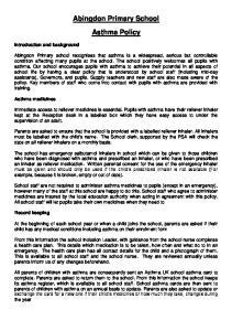 Abingdon Primary School Asthma Policy