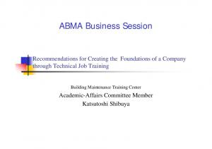 ABMA Business Session