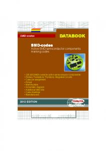 ABOOK. SMD-codes. Active SMD semiconductor components marking codes. SMD-codes 2012 EDITION