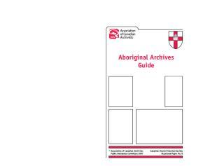 Aboriginal Archives Guide