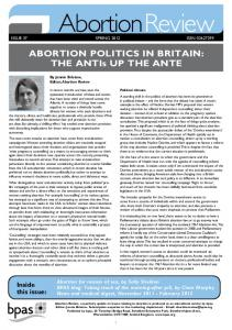 AbortionReview. Inside this issue: