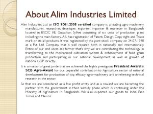 About Alim Industries Limited