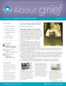 About grief. Grief Survival Kit