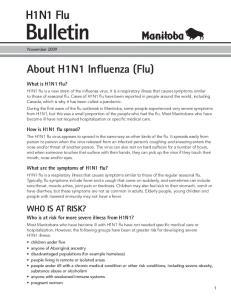 About H1N1 Influenza (Flu)