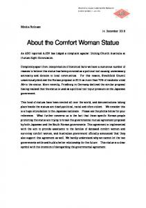 About the Comfort Woman Statue