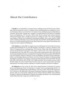 About the Contributors