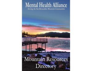 About us... Big Bear. Mental Health Alliance