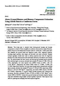 Above-Ground Biomass and Biomass Components Estimation Using LiDAR Data in a Coniferous Forest