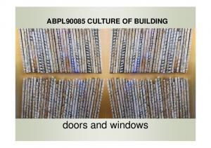ABPL90085 CULTURE OF BUILDING. doors and windows