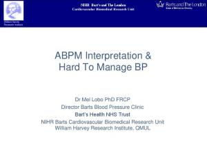 ABPM Interpretation & Hard To Manage BP