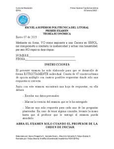 ABRA EL EXAMEN SOLO CUANDO EL PROFESOR DE LA ORDEN DE INICIAR