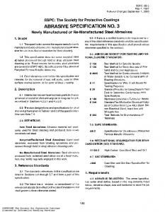 ABRASIVE SPECIFICATION NO. 3