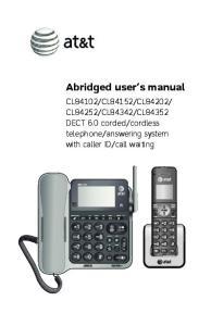 Abridged user s manual