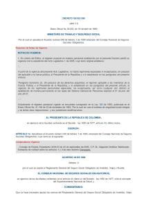 (abril 11) Diario Oficial No , de 18 de abril de 1990 MINISTERIO DE TRABAJO Y SEGURIDAD SOCIAL