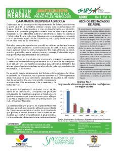 ABRIL No.3 Vol. 4 DE ALIMENTOS EN LOS PRINCIPALES MERCADOS. No. 9 Vol. 2