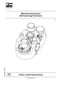 ABS Hebeanlage Sanimat ABS Hebeanlage Piranhamat