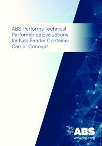 ABS Performs Technical Performance Evaluations for Neo Feeder Container Carrier Concept