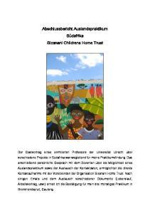 Abschlussbericht Auslandspraktikum Südafrika Sizanani Childrens Home Trust