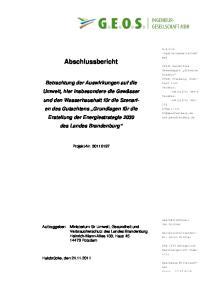 Abschlussbericht. des Landes Brandenburg