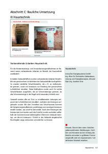 Abschnitt C: Bauliche Umsetzung III Haustechnik