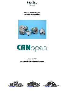 ABSOLUTE ROTARY ENCODER OPTOCODE (OCD) CANOPEN