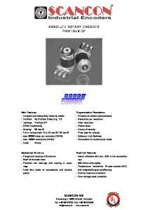 ABSOLUTE ROTARY ENCODER PROFIBUS-DP