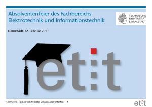 Absolventenfeier des Fachbereichs Elektrotechnik und Informationstechnik