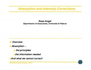 Absorption and Intensity Corrections