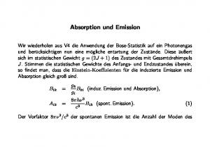 Absorption und Emission