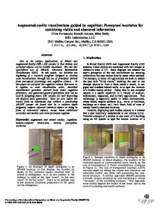 Abstract. 1. Motivation. Keywords: augmented and mixed reality, cognition, human-computer interaction, motion, perception, occlusion