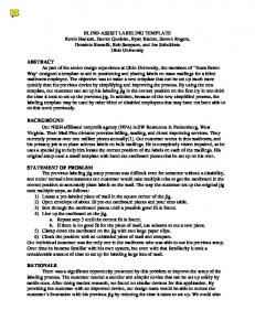 ABSTRACT BACKGROUND STATEMENT OF PROBLEM RATIONALE
