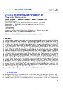 ABSTRACT Developmental dyslexia is a complex and heterogeneous disorder characterized by unexpected