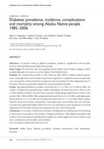 ABSTRACT. Diabetes and complications, Alaska Native people