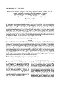 ABSTRACT. Keywords: Biomass; distribution; flora; species composition; species diversity ABSTRAK