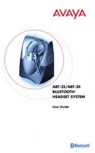 ABT-34 BLUETOOTH HEADSET SYSTEM. User Guide